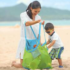 Portable Extra Large Mesh Beach Sand Away Bag Toys Shell Clothes Storage Tote