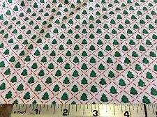 CHRISTMAS MINI TREES IN RED DIAGONAL LINES- BY THE YARD