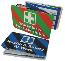HEALTH & SAFETY AT WORK & WORKPLACE FIRST AID POCKET GUIDE - DOUBLE SIDED