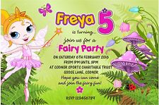 Personalised Birthday Invitations Fairy Party x 5