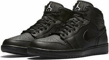 NIKE AIR JORDAN 1 MID MENS BASKETBALL RUNNING CASUAL BLACK SIZE 7.5