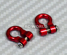 RC 1/10  Scale Truck  Accessories METAL ANCHOR SHACKLES RED (2)