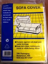 """SOFA COVER 4 Furniture Clear Plastic SOFA COUCH COVER FOR MOVING STORAGE 45""""X152"""