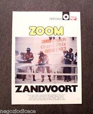 AV81 - Clipping-Ritaglio - 1983 - SPECIALE AUTOSPRINT , ZOOM ZANDVOORT