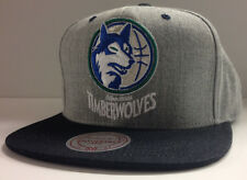 Minnesota Timberwolves Mitchell & Ness NBA Denim Snapback Hat Cap Retro Wolves
