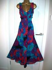 M & S ✨ Per Una ✨ Maxi Evening Dress Size 12M  Floaty Summer Cruise Races