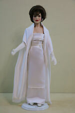 Franklin Mint Jacqueline Kennedy  The Jackie Doll  White Satin Gown India Visit