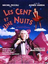 """Affiche 120 x 160 du film """"LES CENT ET UNE NUITS"""" Agnes Varda , Michel Piccoli ."""