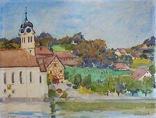 Roger FORISSIER (1924-2003) Eglisau, Suisse / Jeune Peinture Nle Ecole de Paris