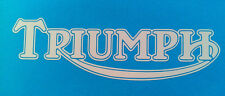 "Triumph motorcycle retro tank decal sticker 5.75""x1.75"" Lot of 2 decals"