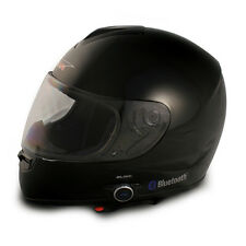 VCAN V136B FULL FACE MOTORCYCLE STREET BIKE BLUETOOTH HELMET GLOSS BLACK X-LARGE