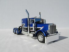 DCP 1/64 SCALE 379 PETERBILT 60'' BUNK BLUE/BLACK/GRAY STRIPE ( TRACTOR ONLY)