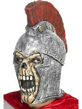 Adult Roman Soldier Skeleton Mask Helmet Outfit Fancy Dress Halloween Warrior