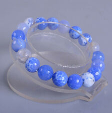 10mm Fashion Blue Crab fire agate Faceted gemstone beads7.5""