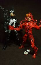 Custom Venom and Carnage marvel legends figures Spider-Man lot cletus head