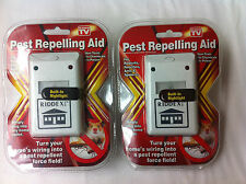 2 pack Pest Repellent for Rodents Roaches Ants Spiders Seen on TV Riddex