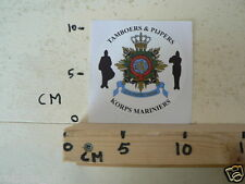 STICKER,DECAL KORPS MARINIERS TAMBOERS & PIJPERS