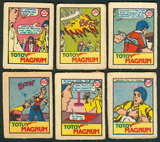 6 Vintage EXOTIC TOTOY MAGNUM Philippine TEKS / Trading Comic Cards 5