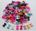 """20pcs x 3D Acrylic Resin Glitter Nail Art """"Sparkly Bows Mix A"""" Craft Decoration"""