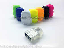 ADAPTADOR ROBOT MICRO USB OTG  ON THE GO 2.0 PARA TABLETS Y SMARTPHONES