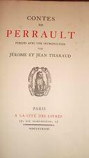Perrault Contes de Perrault, publiés avec une introduction  par tharaud