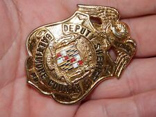 ANTIQUE  OBSOLETE DEPUTY SHERIFF BALTIMORE COUNTY MD MARYLAND BADGE POLICE
