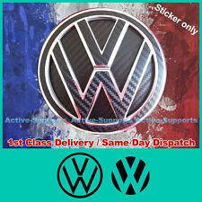 VW Carbon Fibre Style Stickers & Inserts for Rear Badge GOLF R TDI GTI MK6 MK7
