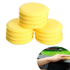 12x Round Foam Sponges Polishing Wax Applicator Pads Cleaning Car Vehicle Glass