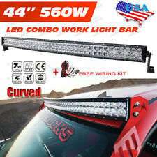 5D+ OSRAM 42INCH 560W Curved LED Light Bar Spot Flood Offroad Driving Lamp 4WD