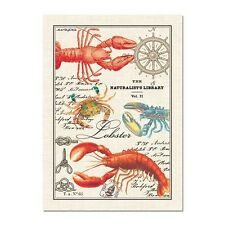 New Michel Design Works Cotton Lobster and Crabs Kitchen Tea Towel