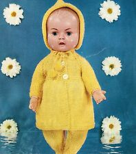 "Dolls clothes knitting pattern.16"" doll.Laminated copy. (V Doll 155)"