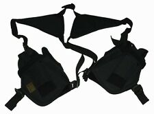 Black 2-Gun Premium Loaded Double Shoulder Holsters BB Airsoft Pistol 208BB