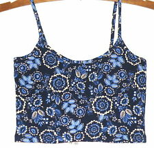 Supre Ladies XXS Crop Top - Blue Floral - New with tags!