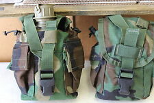 2 Molle II Canteen Cover / Utility Pouch Woodland Camo Pattern USGI LITE USE WOC