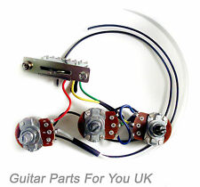 HAND MADE 500k Stratocaster strat Wiring Harness kit 0.022uf cap MINI pots