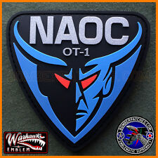 E-4B NIGHTWATCH NAOC PVC Patch, Ops Team 1, 55th Wing, SILVER METALLIC LETTERING