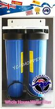 """Twin Big Blue 20""""x 4.5"""" Whole House Household Water Filter System + Filters"""