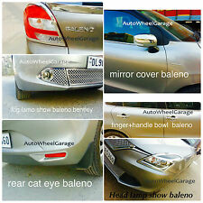 Chrome Combo Kit For Maruti Baleno of 7pcs Head &Tail light+Fog Lamp+Mirror etc.