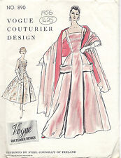 "1956 Vintage VOGUE Sewing Pattern B34"" DRESS & STOLE (1425) By SYBIL CONNOLLY"