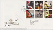 GB ROYAL MAIL FDC FIRST DAY COVER 2005 TROOPING THE COLOUR STAMP SET TALLENTS