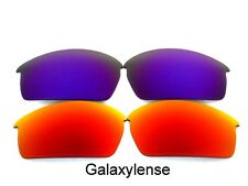 Galaxy Replacement Lenses For Oakley Bottlecap Red&Purple Polarized 2Pairs