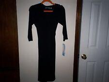 NWT NEW B-Slim Women's 3/4 Sleeve Dress SIZE SMALL BLACK FLATTENS TUMMY