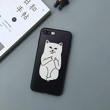 Cute Cartoon Simple Funny Cat Couple Soft Case Cover For iPhone 5S 6 6S 7 Plus