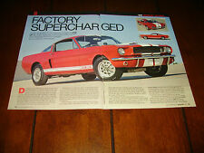 1966 SHELBY GT350 PAXTON SUPERCHARGED MUSTANG  ***ORIGINAL 2010 ARTICLE***