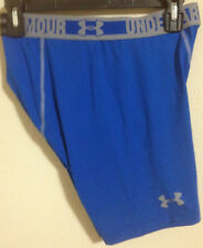 NWT MN UNDER ARMOUR 1236237 406 SOLID BLUE SONIC COMP RUNNING SHORT SIZE XL