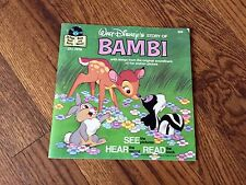Bambi Walt Disney See Hear Read Book and Record 1976  #309