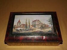 VINTAGE 1997 LARGE HORSES LOGS CASTLE FEDERAL REPUBLIC OF GERMANY COOKIE TIN BOX