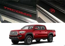 Front & Rear Barcelona Red Door Sill Vinyl Inserts 2016-2017 Toyota Tacoma New