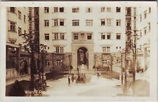 Austria Wien - Reumannhof 1927 used not mailed real photo sepia postcard