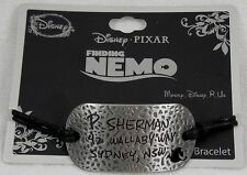 Disney Finding Nemo P Sherman Wallaby Way Address Pendant Black Cord Bracelet